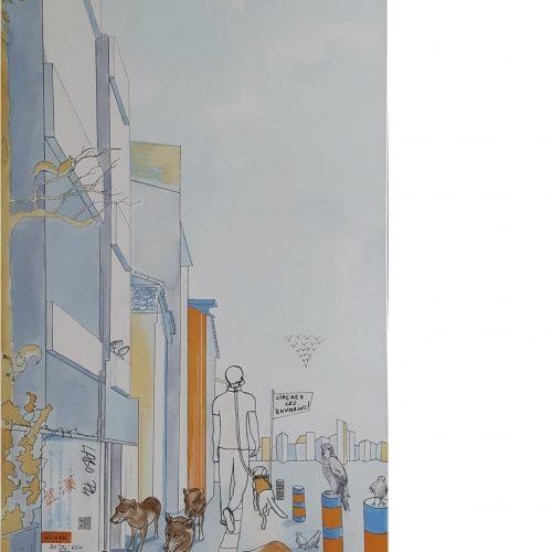 LA PREMIERE VAGUE - 120 x 60 cm