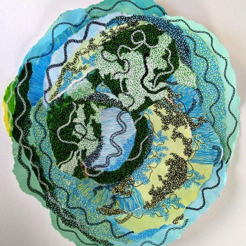 Constellation 10 10 2020 collage avec techniques mixtes acrylique et crayons posca 50 50 cm (6) 210 €